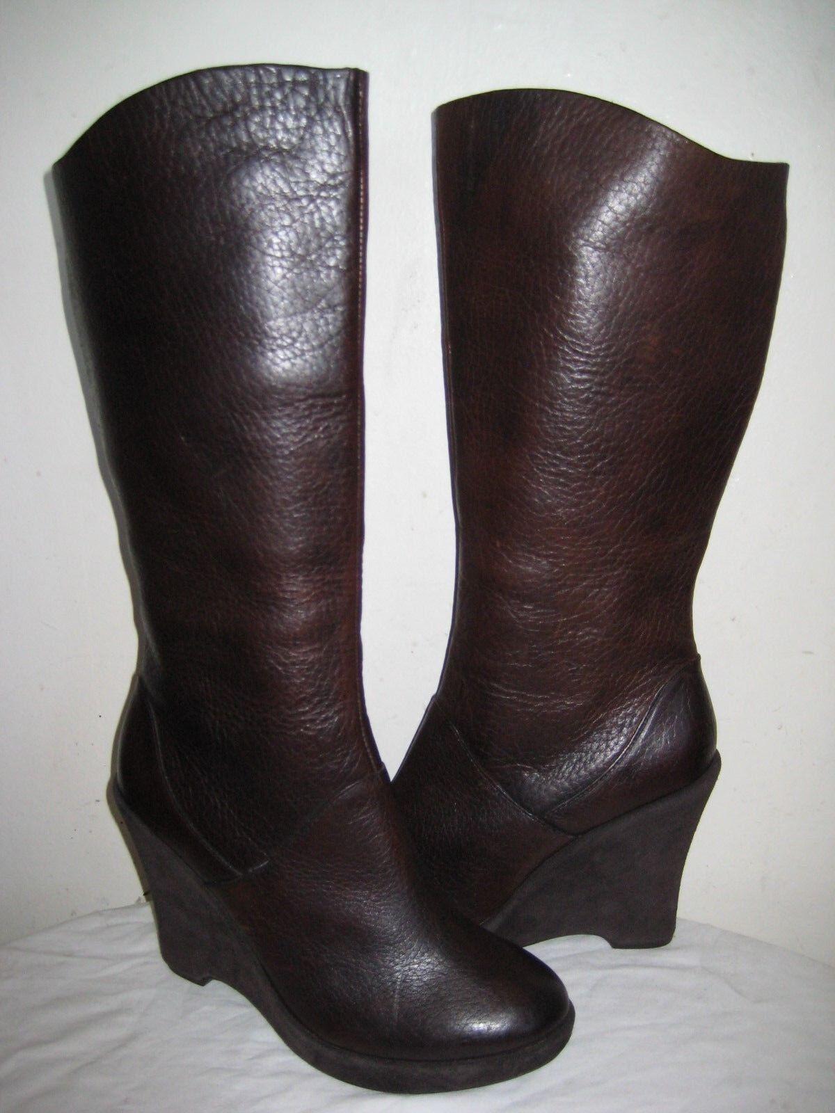 Kork-Ease the Original Cuero botas hasta hasta hasta la rodilla cuña de chocolate para mujer 9.5  promocionales de incentivo