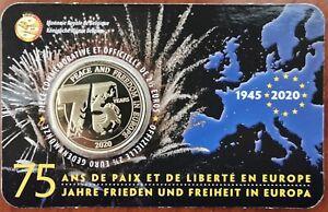 Coincard 2,5 EURO 75 ans de paix et de liberté BELGIQUE 2020 version FR - 2 1/2