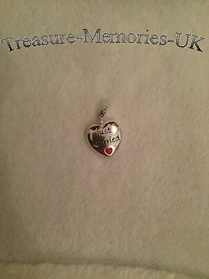 London 925 /' Just Married /' Clip Charm for links of your bracelet FREE P/&P