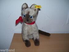 alte Katze Cat Steiff Cattie Sacred Birman Katze Kinder Stofftier Siam 2740/25