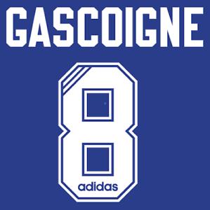 Rangers Gascoigne Nameset 1996 Shirt Soccer Number Letter Print Football adidas