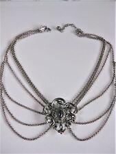 Antikes Collier Silber 835 mit Amethyst