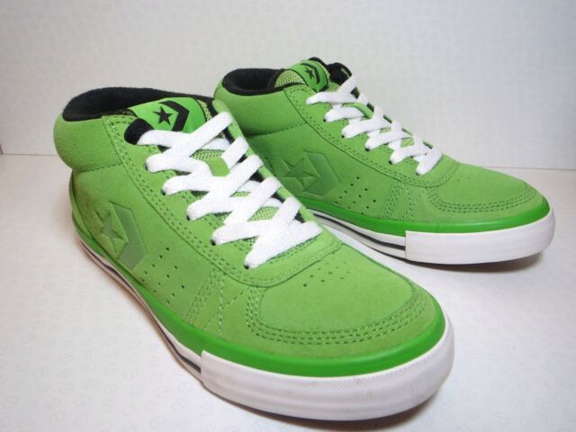 Women s CONVERSE All Star MID HIGH GREEN SUEDE SKATE Trainers Shoes SIZE ... 83f3cd8a7
