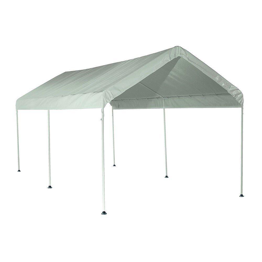 ShelterLogic Max AP 10' x 20' Straight 6 Leg Large Outdoor Pop Up Canopy, White