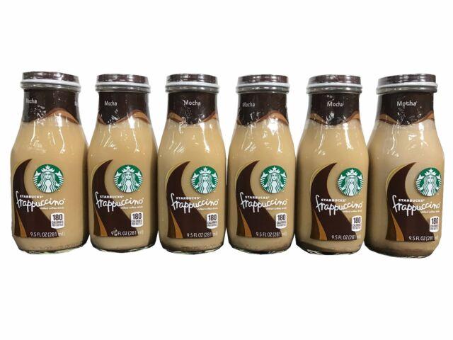 53b04f7fb50f Starbucks Frappuccino Mocha Coffee Drink 9.5 Oz Glass Bottle