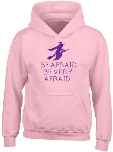 Be Afraid Be Very Afraid Halloween Purple Boys Girls Childrens Hooded Top Hoodie