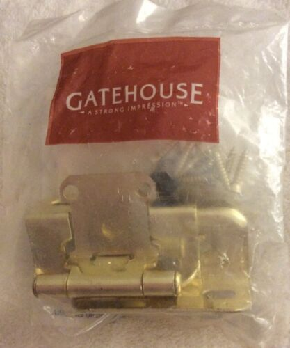 """Gatehouse 2-Pack 2-1//4/"""" x 1-1//2/"""" Polished Brass Self Closing Cabinet Hinges"""