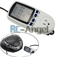 Energy Power Meter Watt Volt Voltage Lcd Monitor Electricity Analyzer Us Plug