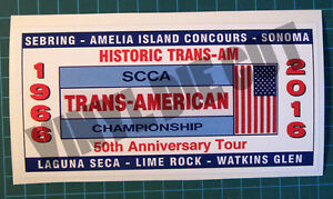 HISTORIC-VINTAGE-TRANS-AM-50TH-ANNIVERSARY-TOUR-DECAL-STICKER-SCCA-RACING