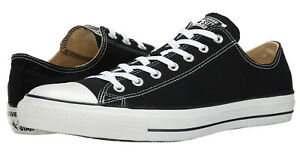Converse-Chuck-Taylor-Low-Tops-Black-OX-Mens-Sneakers-Tennis-Shoes-M9166