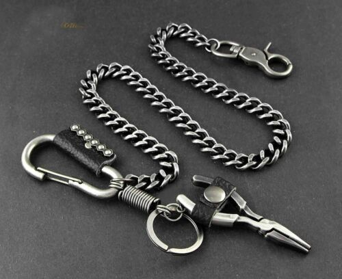 Vintage Punk Biker Long Wallet Chain With a carabiner