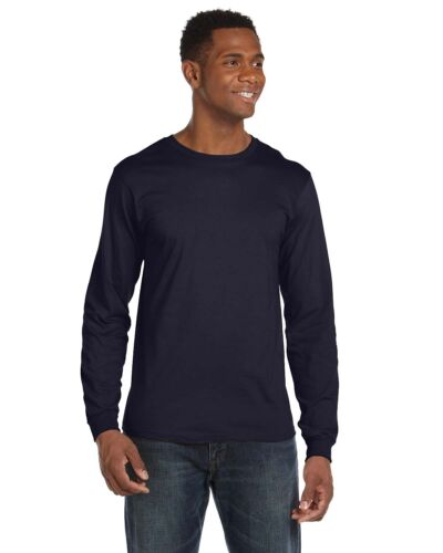 Anvil Mens Lightweight Fashion Long Sleeve T Shirt Cotton Blend Tee S-3XL 949