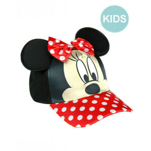84b435ef4532c5 OFFICIAL DISNEY MINNIE MOUSE EARS & HAIR BOW HOOK AND LOOP BASEBALL ...