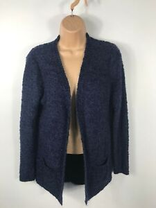 WOMENS-F-amp-F-DARK-BLUE-LONG-SLEEVE-OPEN-CARDIGAN-JUMPER-CASUAL-KNITTED-SIZE-UK-8