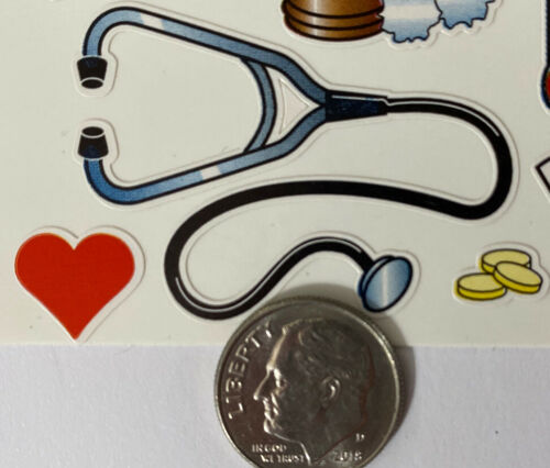 15pc MEDICAL SUPPLIES Sticker Paper Studio•Doctor•Band-aid•Shots•Nurse •Pills