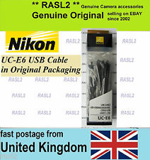 Original NIKON USB cable UC-E6 DF D750 D5500 D5000 D5200,D5300 D3300 P530 AW110
