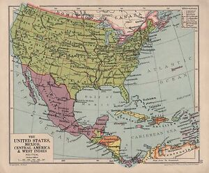 image is loading 1928 map united states mexico central america amp