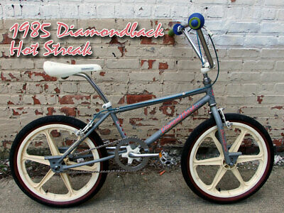 Diamond Back 1985 Hot Streak for chrome frame DB decal set Old school bmx