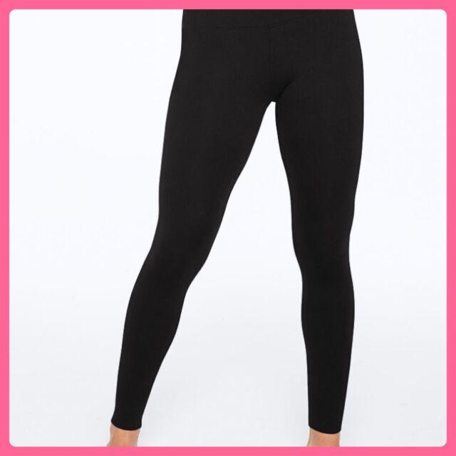 fd2f8031e3357 NEW Victoria's Secret PINK Yoga Leggings Cotton BLACK M Medium EveryDay Hot  Gift