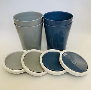 Modern-Office-Desk-Countertop-Swing-Top-Trash-Can-Waste-Bin-1-5-L-4-Pack