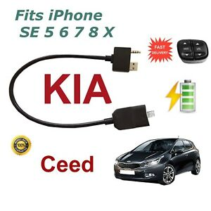 For-KIA-Ceed-iPhone-SE-5-6-7-8-X-iPod-USB-amp-3-5mm-Aux-Cable-steering-wheel-contr