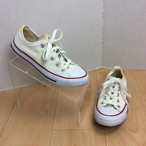 Converse-All-Star-Chuck-Taylor-Shoes-Low-Top-Women-s-Size-6-White-Red-Destroyed