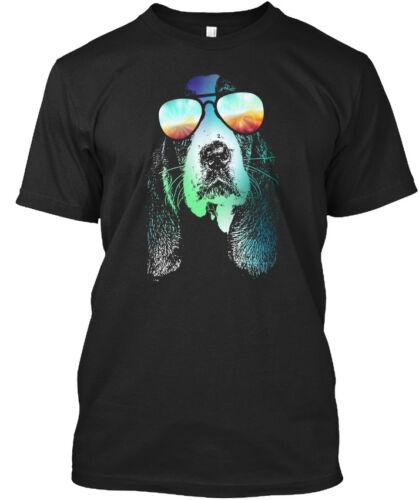 Basset Hound Neon Standard Unisex T-shirt