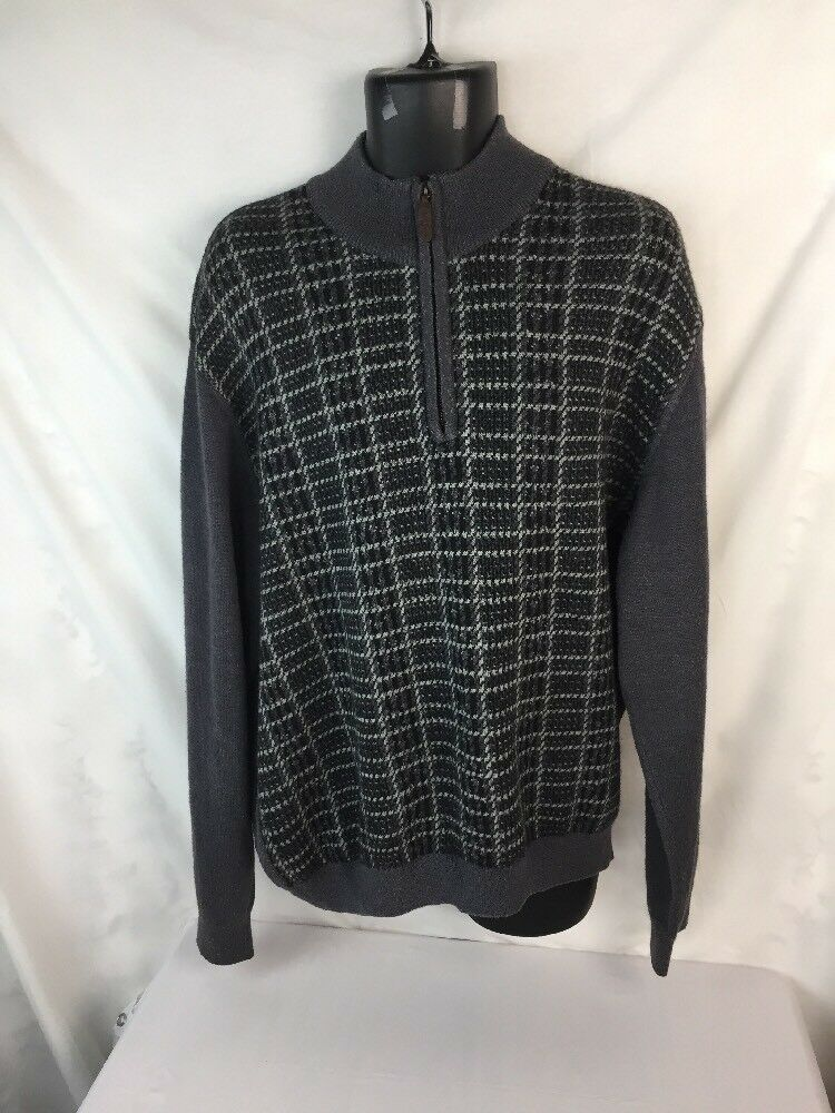 BOBBY JONES 1/4  ZIP SWEATER Grün/ grau