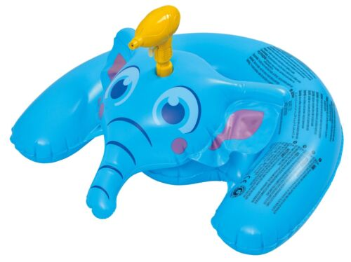 Kids Inflatable Piscine Elephant Float Rider + Squirt Water Gun Beach POUR TOY