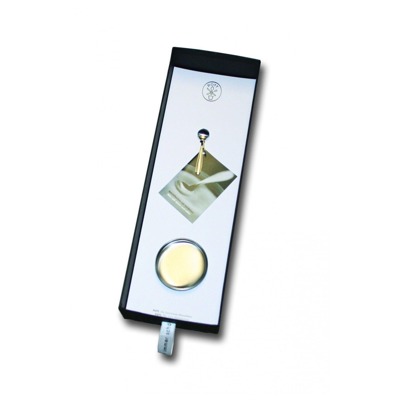 2799-676 Pott, acciaio inox, sale Löffelchen con piattino in scatola regalo