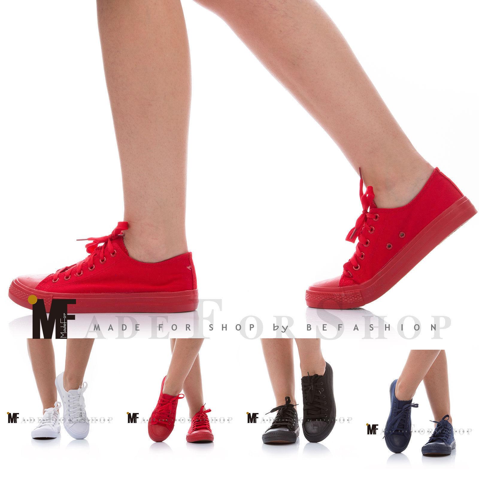 scarpe donna ginnastica sneakers sportive fitness basse tela stringate  Z9515