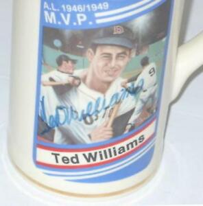 TED-WILLIAMS-AUTOGRAPHED-BOSTON-RED-SOX-SPORTS-IMPRESSIONS-TANKARD