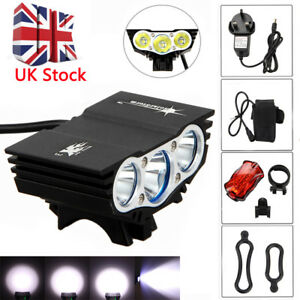 15000-Lm-XML-T6-X3-DEL-Mountain-Bike-Front-Light-Solar-Storm-Velo-Head-Light-SET