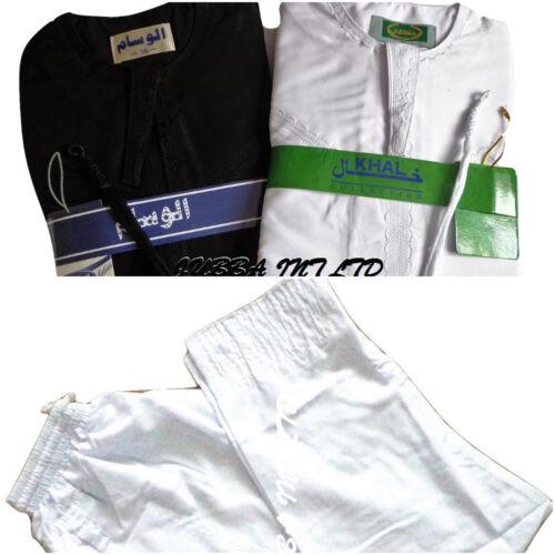 thobe Pure White /& black Jubbah Boys//Kids Omani  jubbah with trouser