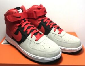 75fce4dc87c Nike Mens Size 9.5 Air Force 1 High  07 LV8 Wolf Grey University Red ...
