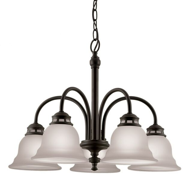 Charmant Dark Oil Rubbed Bronze Dining Room Chandelier Ceiling Lighting Fixture, New!