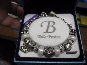 Image Is Loading Bella Perlina Deluxe Charm Amp Crystal Bead Bracelet
