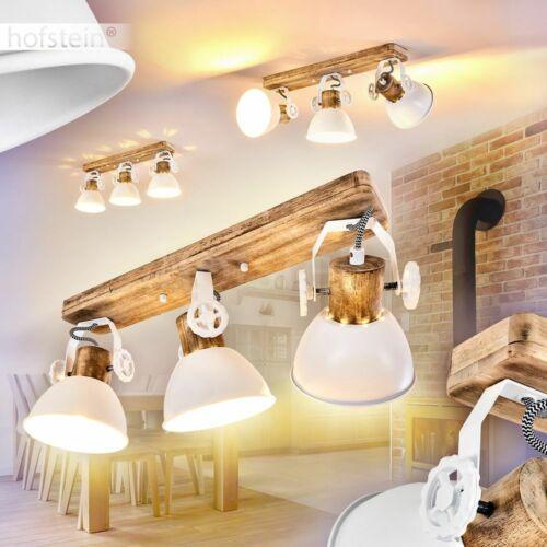 Decken Leuchten Vintage Flur Dielen Strahler weiß//Holz Wohn Schlaf Zimmer Lampen