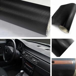 3D-Carbon-Fiber-Texture-Matte-Black-Vinyl-Car-Wrap-Sticker-Decal-Film-Sheet-DIY