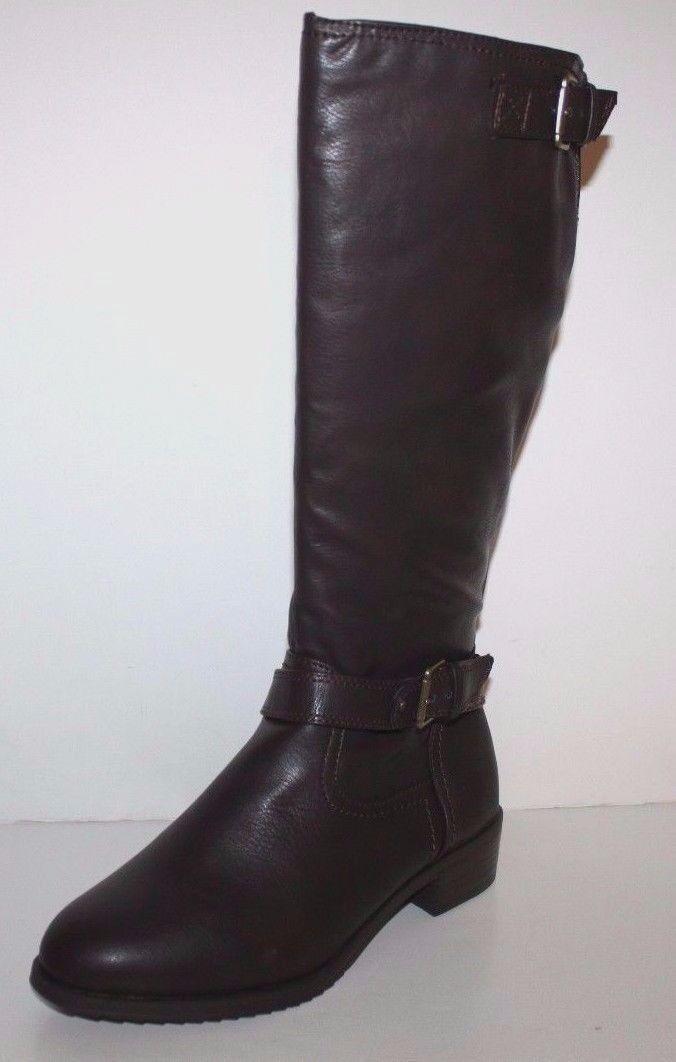 GH Bass Nuevo En Caja Para Mujer de ancho ancho Alexandra Marrón Imitación Cuero botas De Montar