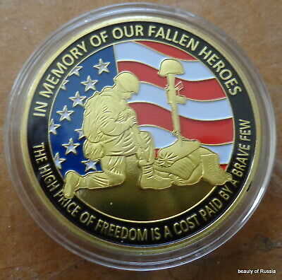 In memory of our fallen heroes   24K GOLD PLATED MEMORABILIA COIN #1