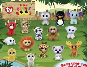 2017 MCDONALDS HAPPY MEAL TY TEENIE BEANIE BOOS Set of 15- In Hand ... 5357a341112