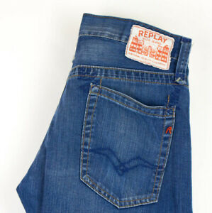 Replay Herren Gerades Bein Jeans Größe W31 L32 AFZ534