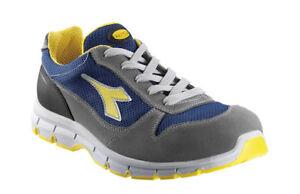 Grigio textile low run blu utility scarpe antinfortunistiche diadora