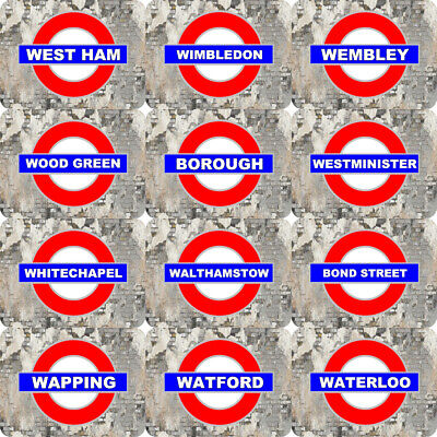 SELECT YOUR LONDON UNDERGROUND TUBE TRAIN RAILWAY STATION METAL PLAQUE SIGN SM6