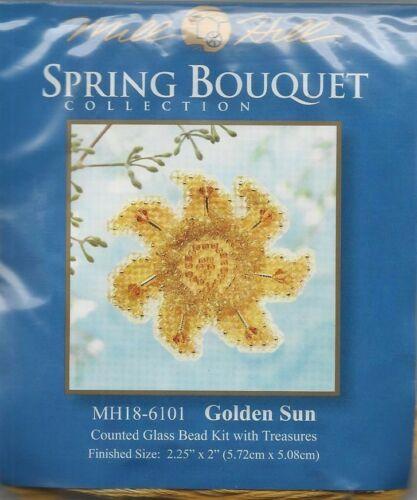Spring Collection Golden Sun Glass Bead Treasure Mill Hill