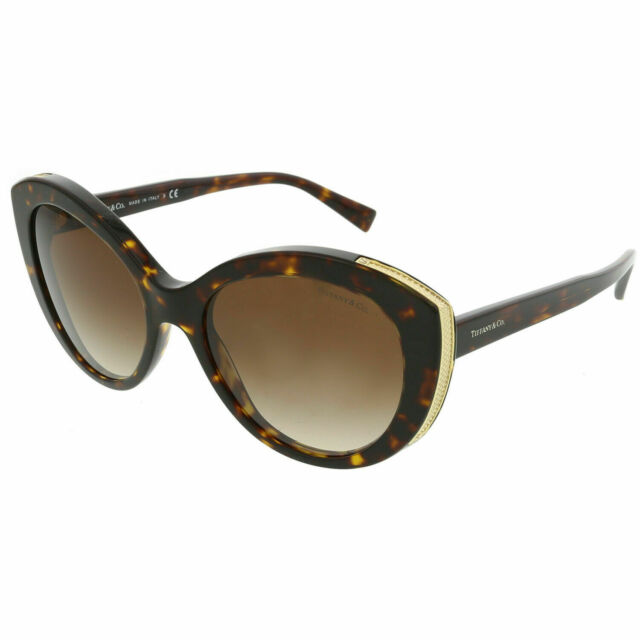 Tifany /& Co Women/'s Gradient Tf4151-80153B-54 Brown Butterfly Sunglasses