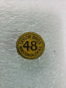 48-Chewing-Tobacco-Tag-Taylor-Bros-Winston-Salem-NC-Litho