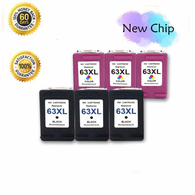 2PK 63 XL 63XL Ink Cartridge for HP Envy 4512 4516 4520 OfficeJet 5255 5258 4654