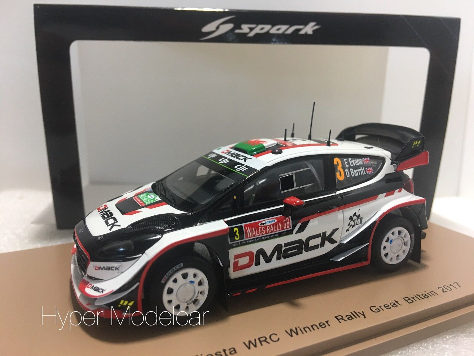 Spark 1 43 Ford Fiesta WRC  3  Winner Rally Great Britain 2017 art.s5174  meilleur choix
